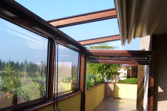Intenda Cristall Rollvorhang für Balkon