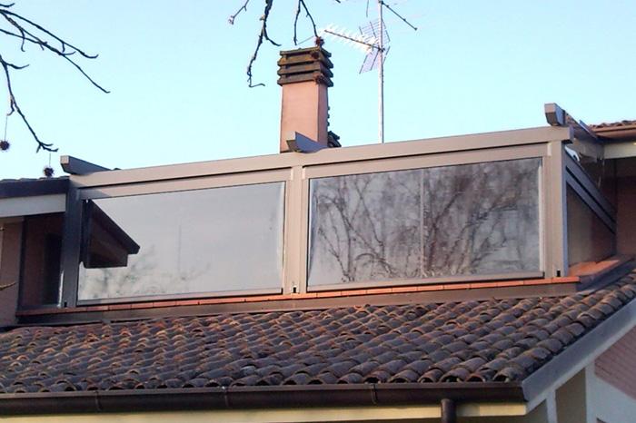 Intenda Cristall Rollvorhang für Dachterrasse