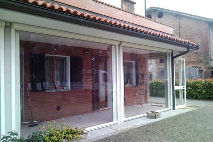 Intenda Cristall Rollvorhang für Dachüberstand