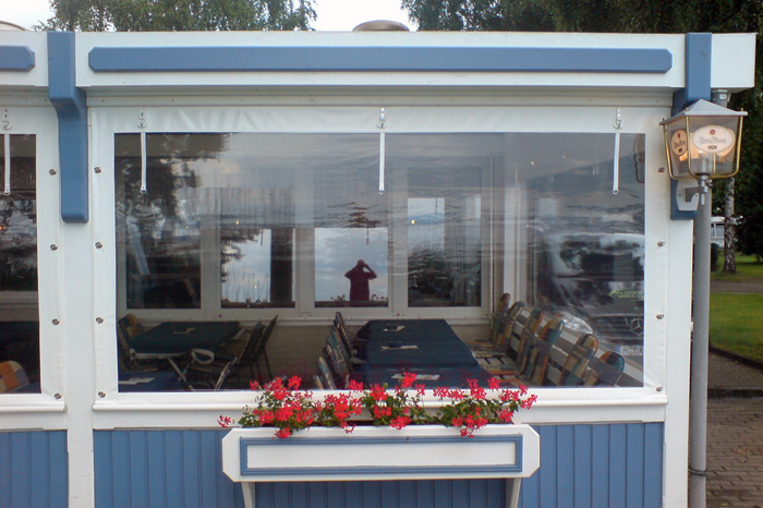 Pergolaseitenplane mit Fenster