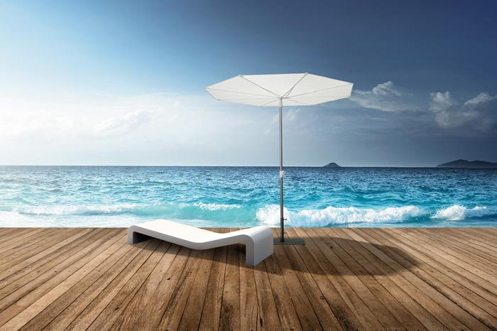 Revo kleiner Sonnenschirm mit 2-teiligem Mast