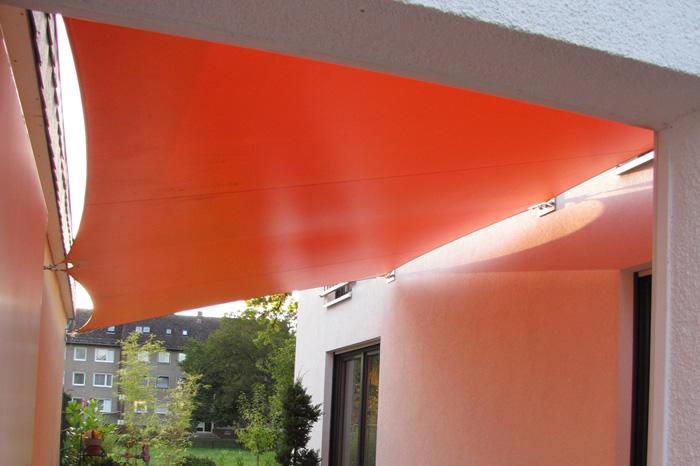 Sonnensegel aus PVC Planenstoff