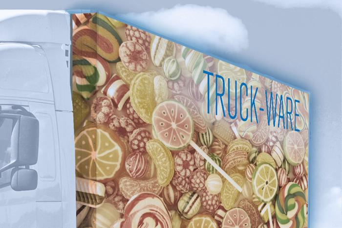 Truck-Ware LKW-Wechselwerbung