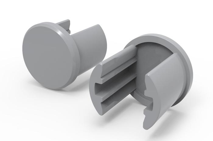 Endstopfen für das Aluminiumrohr