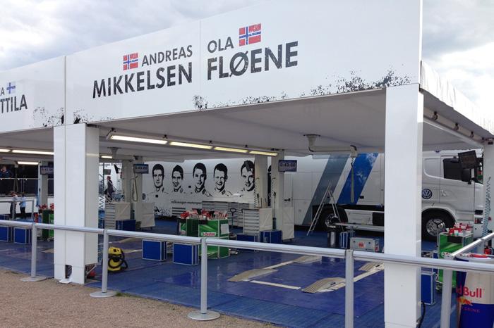 Himmel und Bodenplanen für VW-Motorsport