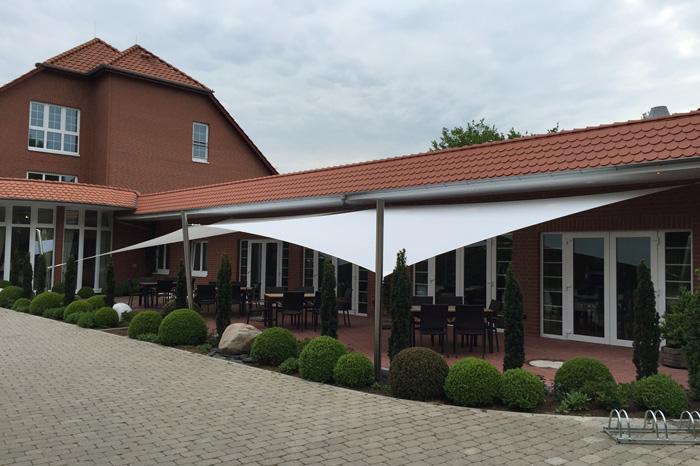 Sonnensegel Capemarine Hotel Perl Außenterrasse